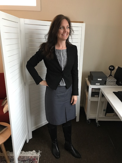 Nina Fountain in Businesswear